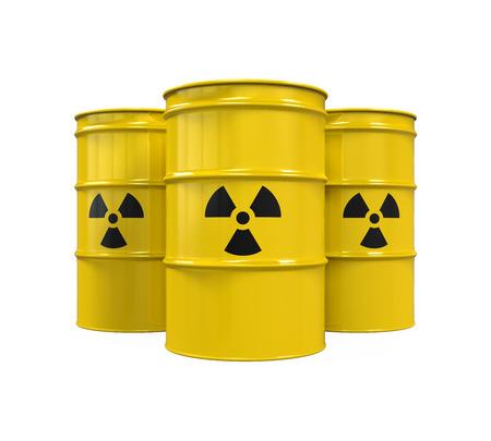 desechos toxicos: Barriles radiactivos amarillas
