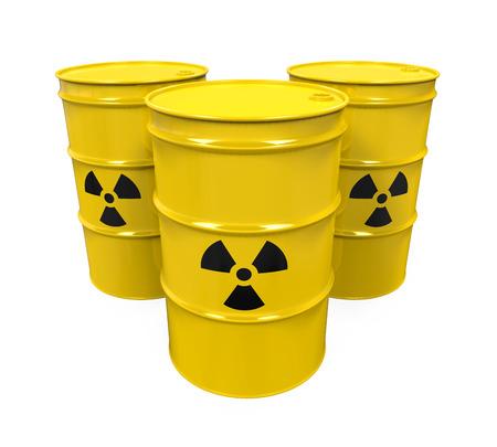 riesgo quimico: Barriles radiactivos amarillas
