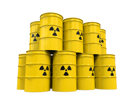 hazardous: Yellow Radioactive Barrels