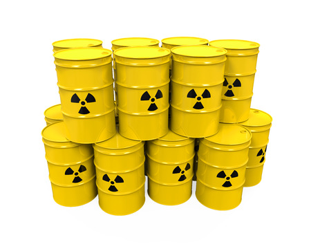 Yellow Radioactive Barrels photo
