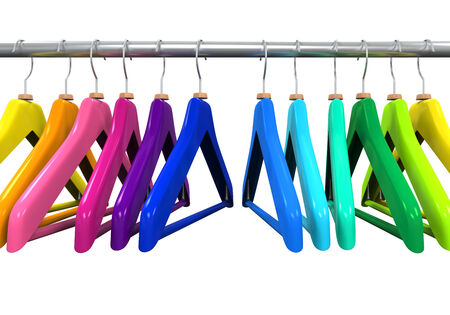 hangers: Colorful Clothes Hangers Stock Photo