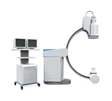 radiotherapy: C Arm X-Ray Machine Scanner Stock Photo
