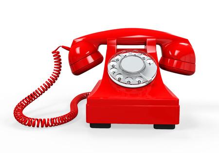 Vintage Telephone Isolated Foto de archivo