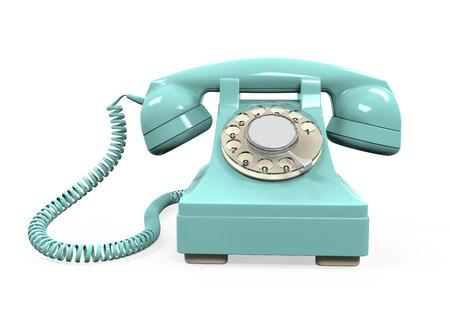 Vintage telefoon geïsoleerd Stockfoto