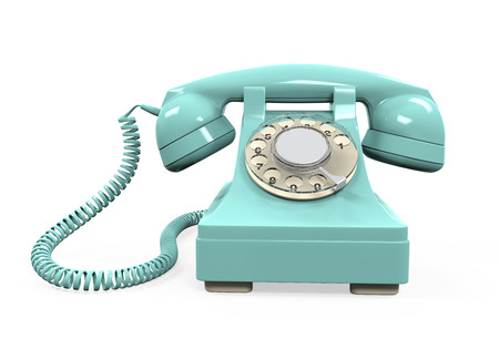 phone cord: Vintage Telephone Isolated Stock Photo