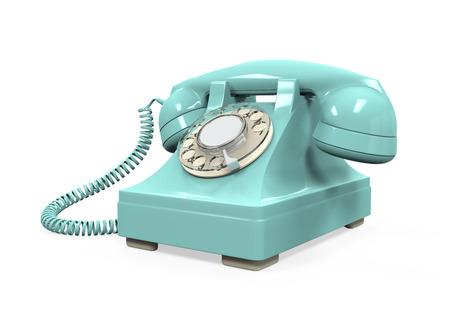 Vintage Telephone Isolated Stock Photo