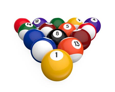 billiards tables: Billiard Balls Isolated Stock Photo