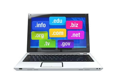 gov: Laptop with Domain Names