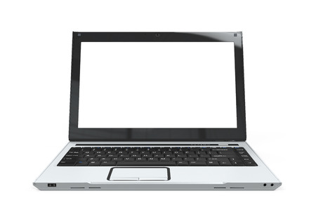 laptop screen: Laptop with Blank White Screen