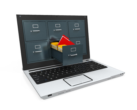 Laptop Data Storage Stockfoto - 30324085