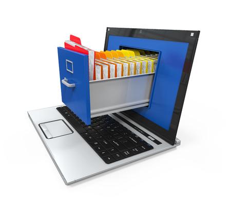 Laptop-Datenspeicherung Standard-Bild - 30209766