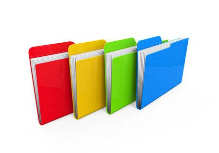 file folders: Colorful Folders Stock Photo