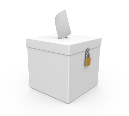Ballot Box Isolated photo