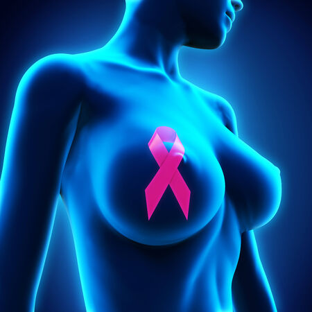 Breast Cancer Ribbon Symbol Stock Photo