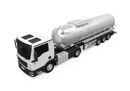 camión cisterna: De combustible de camiones cisterna Foto de archivo
