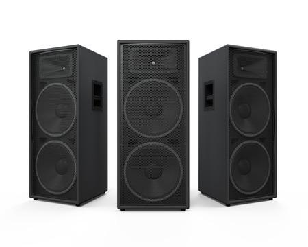 Large Audio Speakers Archivio Fotografico