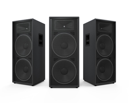 Large Audio Speakers Banco de Imagens
