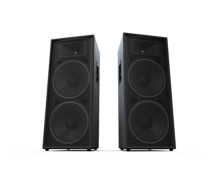 loud speaker: Large Audio Speakers Stock Photo