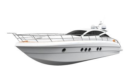 Weiß Vergnügen Yacht Standard-Bild