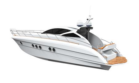 boat motor: White Pleasure Yacht