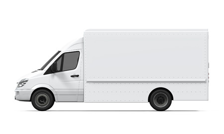 Delivery Van Isolated Stockfoto