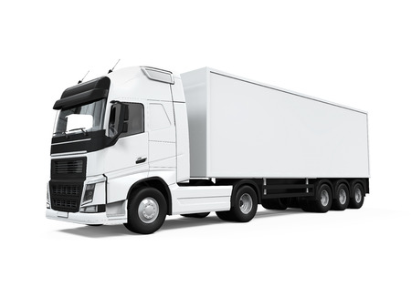 white goods: Cargo Delivery Truck Stock Photo