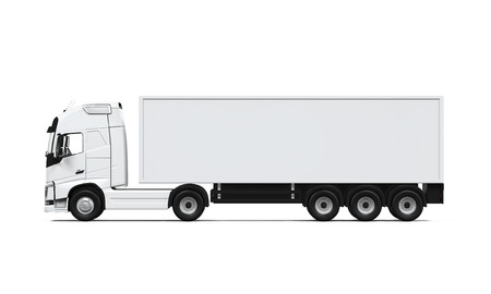 Cargo Delivery Truck 스톡 콘텐츠