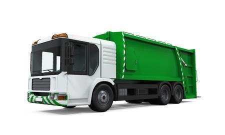 basurero: Camión de basura aislados Foto de archivo