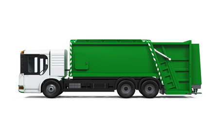 dispose: Garbage Truck Isolated
