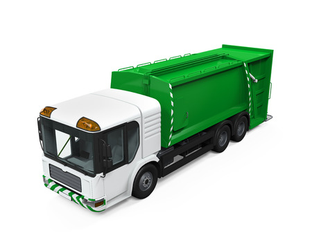 utility: Garbage Truck Isolated