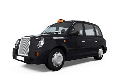 블랙 런던 택시 스톡 콘텐츠