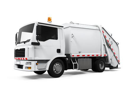 Camión de basura aislado Foto de archivo - 31493874