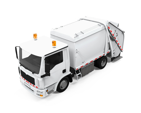 refuse: Garbage Truck Isolated