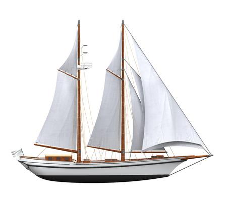 Sail Ship Isolated Stockfoto