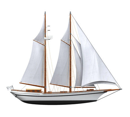 Sail Ship Isolated Banque d'images