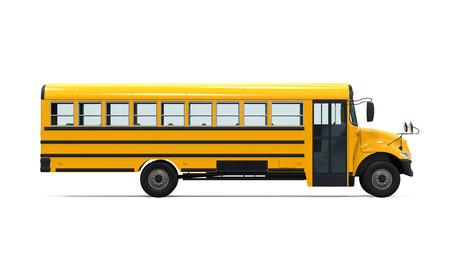 黄色のスクールバス 写真素材