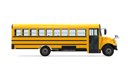school children: Yellow School Bus Stock Photo