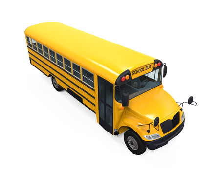 schoolbus: Yellow School Bus Stock Photo