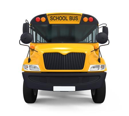 school kid: Yellow School Bus Stock Photo