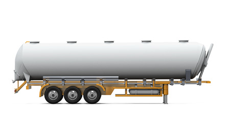 Oil Tank Truck Isolated Stock Photo