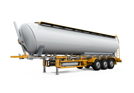Oil Tank Truck Isolated photo