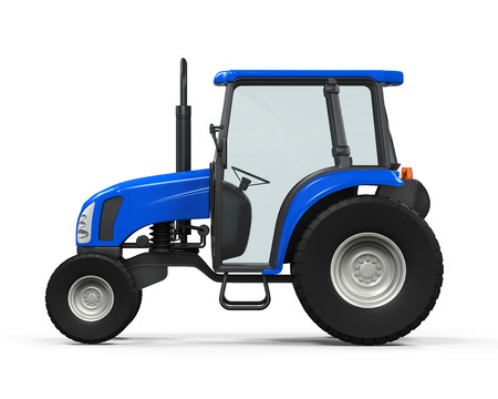 Blue Tractor Isolated photo