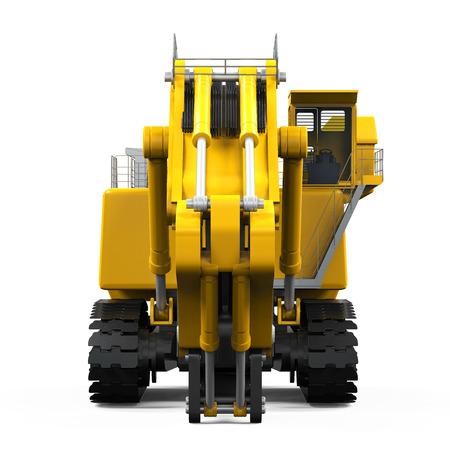 Yellow Excavator Isolated photo