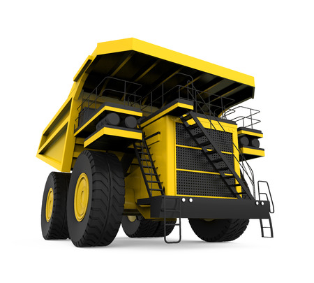 mining truck: Minería Camión Amarillo Foto de archivo