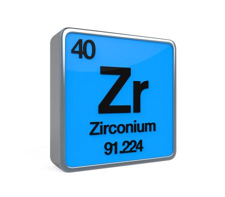 Zirconium Element Periodic Table Stock Photo
