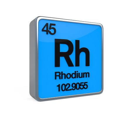 noble gas: Rhodium Element Periodic Table