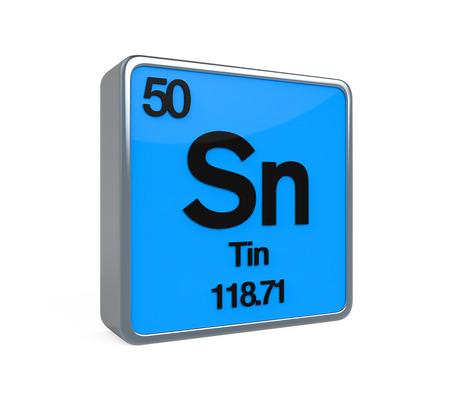 noble gas: Tin Element Periodic Table Stock Photo