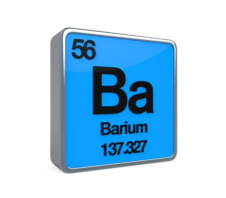 period: Barium Element Periodic Table Stock Photo