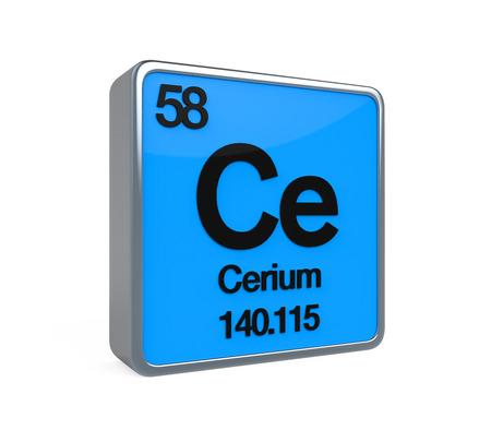 isotope: Cerium Element Periodic Table Stock Photo