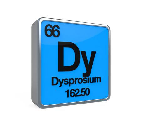 isotope: Dysprosium Element Periodic Table Stock Photo